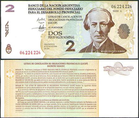Argentina, currency, bond, lecop