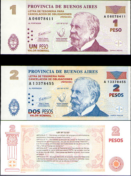 Argentina, currency, bond, patacón