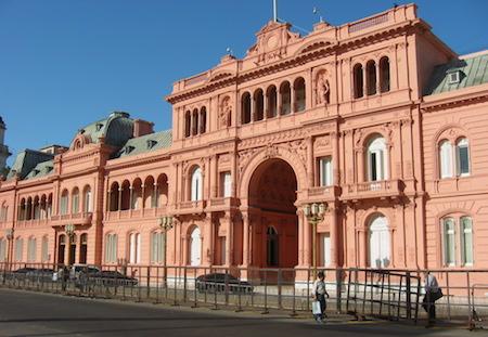 Argentina, Buenos Aires, Casa Rosada, valla
