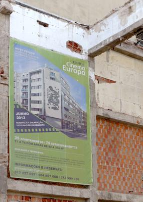 Lisbon, Lisboa, Cinema Europa, demolition