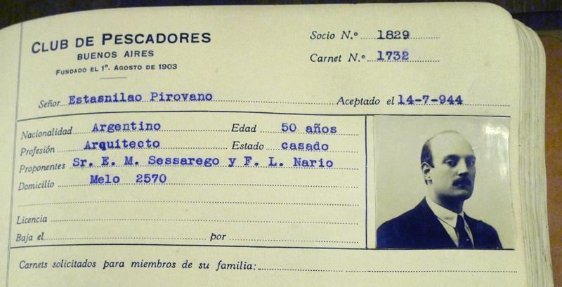 Club de Pescadores, Estanislao Pirovano portrait