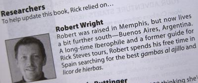 Robert Wright, guidebook credit/bio
