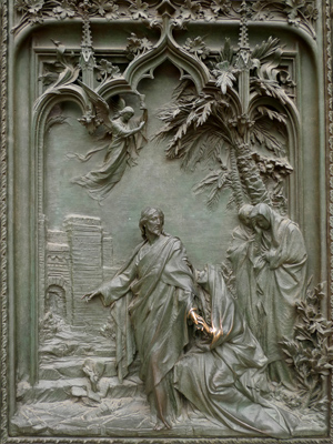 Milan, Milano, Duomo, door