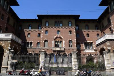 Milan, Milano, Palazzo Gonzaga di Vescovado, Cecilio Arpesani