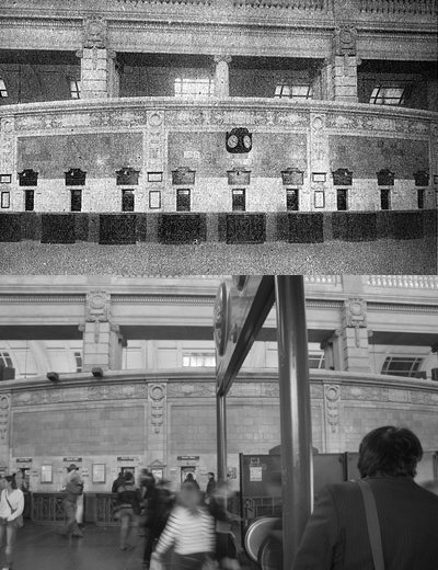 Buenos Aires, Retiro train station, then & now
