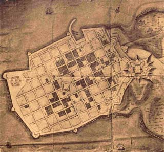 Montevideo, early city plan