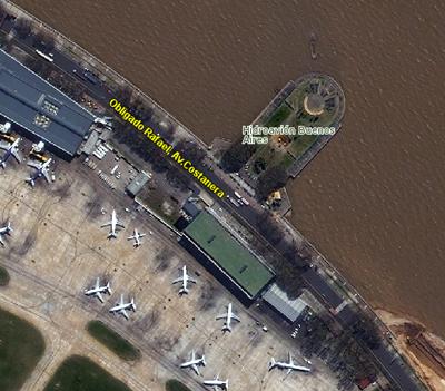Monumento a Colón, Aeroparque, Palermo, espigón, Río de la Plata