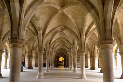Scotland, Glasgow, Kelvingrove, University of Glasgow, cloisters