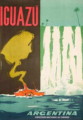 Argentina, travel poster, Iguazú