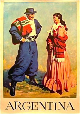 Argentina, travel poster, gaucho