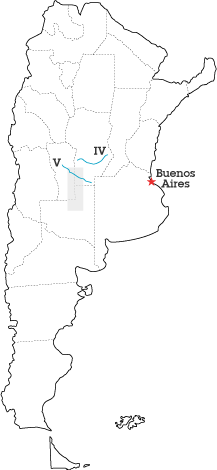 Argentina map for Mansilla's