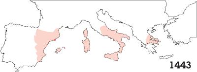Crown of Aragón, 1443
