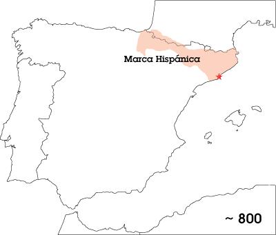 Marca Hispánica map