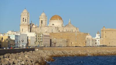 España, Spain, Cádiz, malecón, catedral