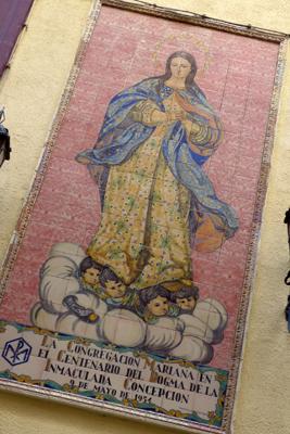 España, Spain, Cádiz, tile panel, Inmaculada Concepción