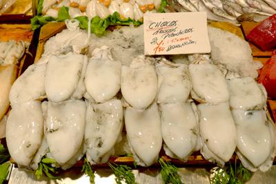 España, Spain, Cádiz, mercado, chocos, cuttlefish