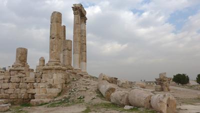 Jordan, Amman, citadel, Roman ruins, Temple of Hercules