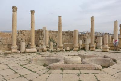 Jordan, Jerash, Roman ruins, market