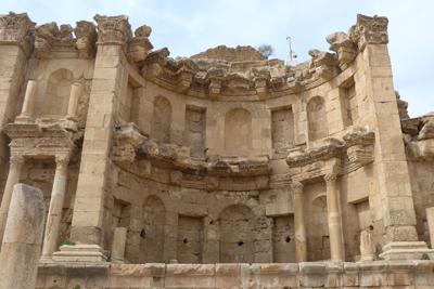 Jordan, Jerash, Roman ruins, fountain