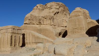 Jordan, Petra, necropolis, Djin tombs