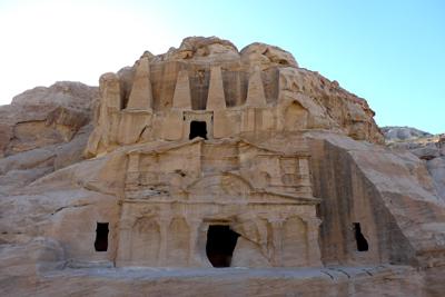 Jordan, Petra, necropolis, obelisk tomb