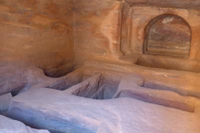 Jordan, Petra, street of façades, tomb interior