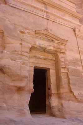 Jordan, Petra, street of façades, tomb entrance