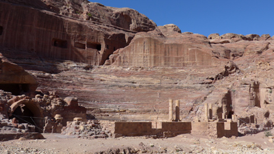 Jordan, Petra, street of façades, theater
