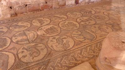 Jordan, Petra, Byzantine church, mosaics