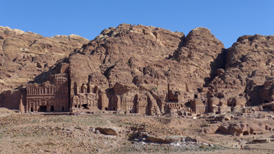 Jordan, Petra, row of tombs