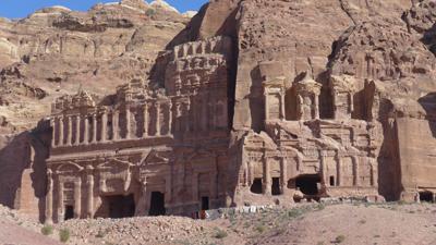 Jordan, Petra, upper row of tombs