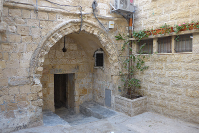 Israel, Jerusalem, Muslim Quarter, patio