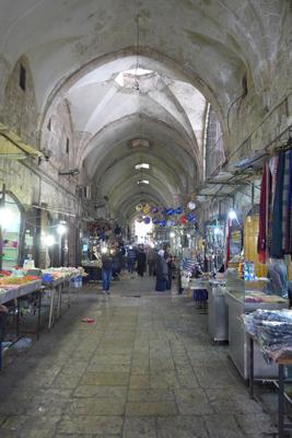 Israel, Jerusalem, Muslim Quarter, Al-Halediya St, market, souq