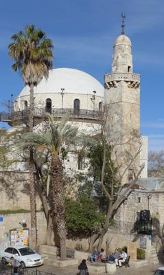 Jerusalem, Israel, Jewish Quarter, Hurva synagogue, Sidna Omar mosque