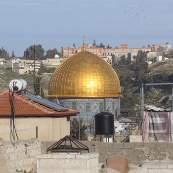 Israel, Jerusalem, Muslim Quarter, Dome of the Rock, mosque