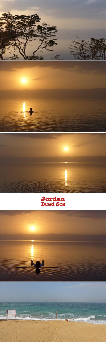 Jordan, Dead Sea, sunset