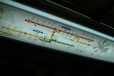 Romania, Bucureşti, Bucharest, subway, sign