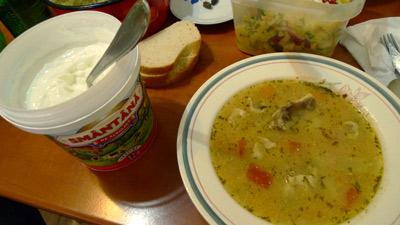Romania, Bucharest, Bucureşti, chicken soup, cream