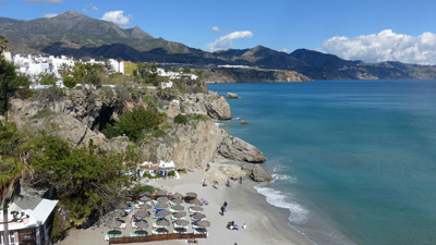 Spain, Andalucía, Nerja, guidebook research, Rick Steves, 2015