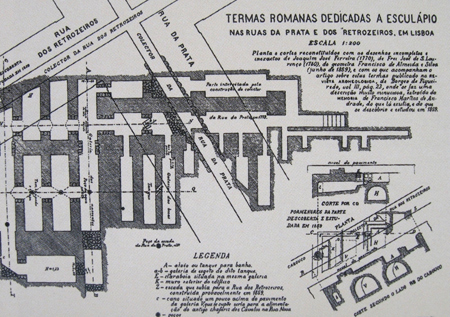 Portugal, Lisboa, Lisbon, termas romanas, galerias romanas, Augusto Vieira da Silva