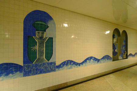Portugal, Lisboa, Metro, subway, linha vermelho, tiles, azulejos, Alameda