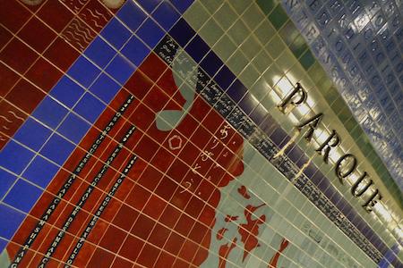 Portugal, Lisboa, Metro, subway, tiles, azulejos, linha azul, Parque