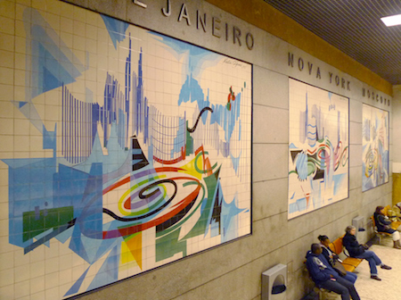 Portugal, Lisboa, Metro, subway, linha azul, Restauradores, Nadir Afonso