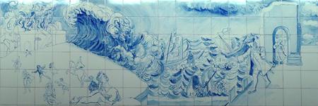 Portugal, Lisboa, Metro, subway, linha amarela, tiles, azulejos, Marquês de Pombal