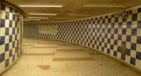 Portugal, Lisboa, Metro, subway, linha amarela, tiles, azulejos, Cidade Universitária