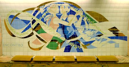 Portugal, Lisboa, Metro, subway, linha amarela, tiles, azulejos, Saldanha