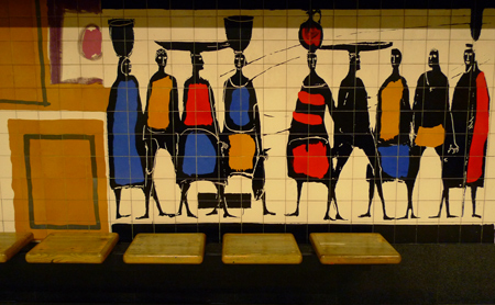 Portugal, Lisboa, Metro, subway, linha amarela, tiles, azulejos, Picoas