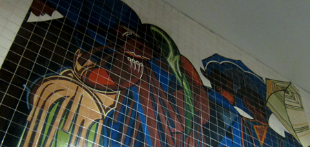 Portugal, Lisboa, Metro, subway, linha vermelho, tiles, azulejos, Almada Negreiros, Saldanha