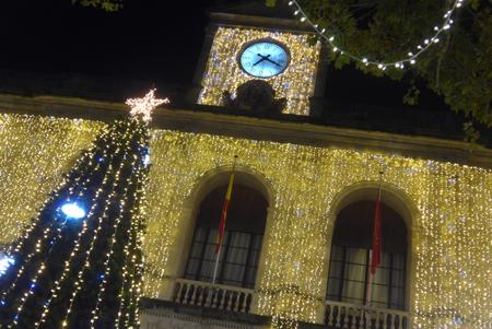 Spain, España, Christmas, Navidad, Sevilla, ayuntamiento