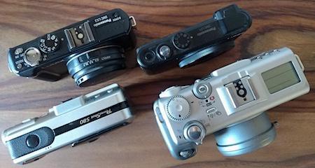camera, collection, DMC-LX3, S30, S80, S95, DMC-LF1, Panasonic, Canon
